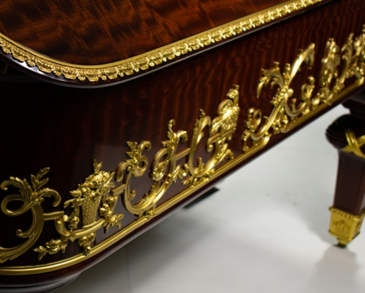 detail on side of piano
