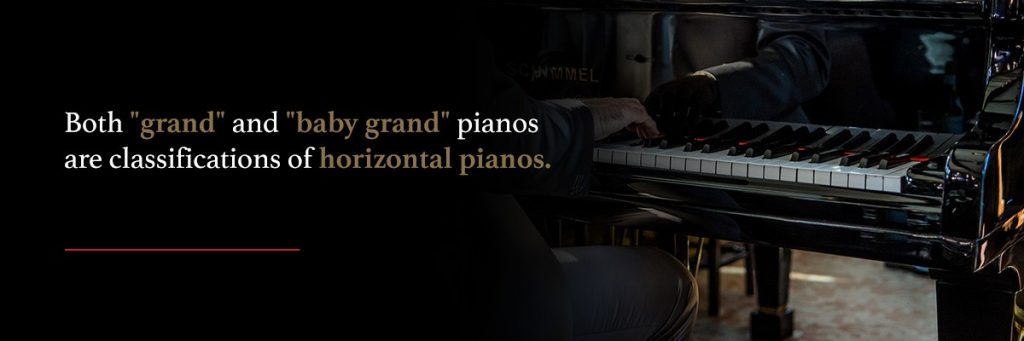 the classification of grand and baby grand pianos