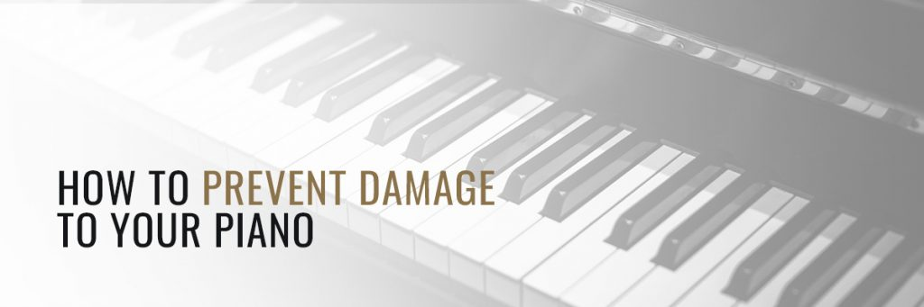 preventing damage to piano banner
