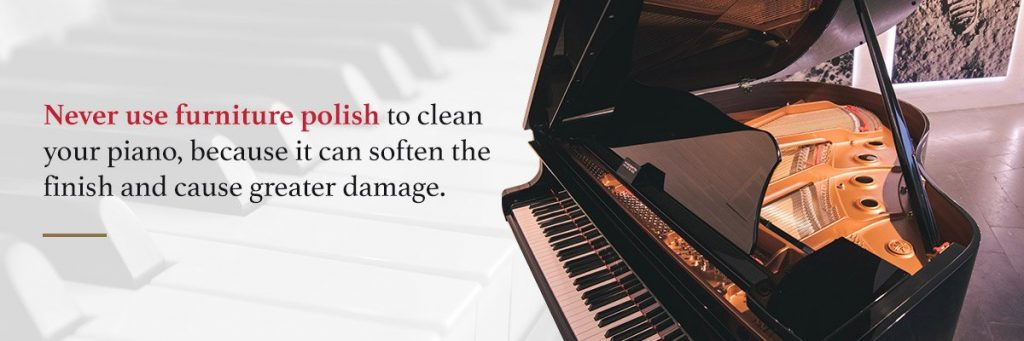 dust and clean piano
