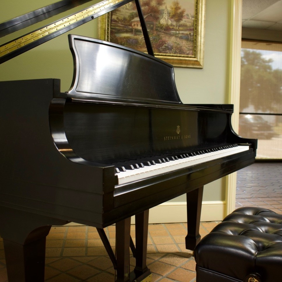 1998-Steinway-Model L-Ebony Satin-Side Angle
